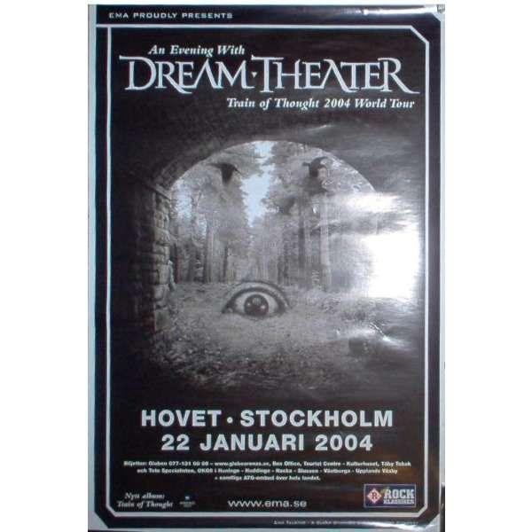 Dream Theater Hovet Stockholm 22.01.2004 (Sweden 2004 original large promo concert poster)