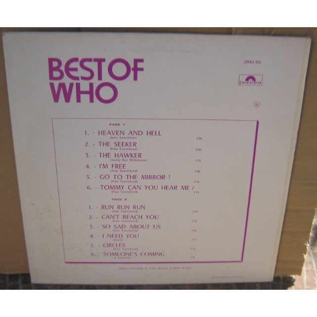 the who best of vol 2