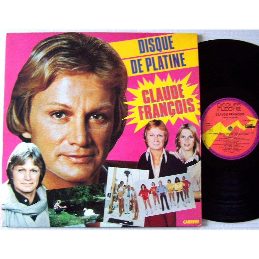 claude françois LP disque de platine / Je vais à Rio