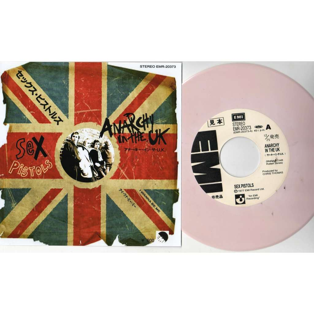 Anarchy in the uk (japan 1977 ltd 50 copies re 2-trk w/label pinkish wax 7  promo unique ps) by Sex Pistols, 7inch x 1 with gmvrecords - Ref:118661732