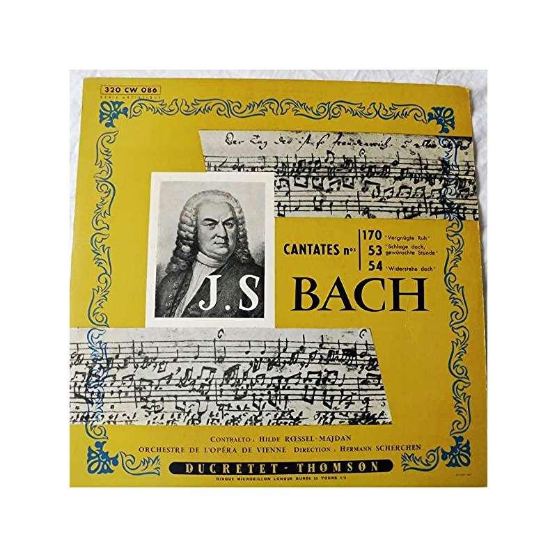 HERMANN SCHERCHEN / HILDE ROESSEL-MAJDAN Bach : cantates n° 170 / 53 / 54