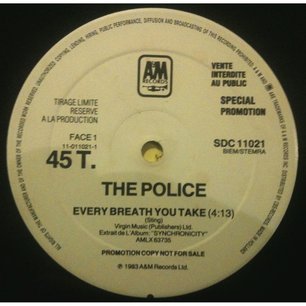 The Police Every breath you take (promo France)