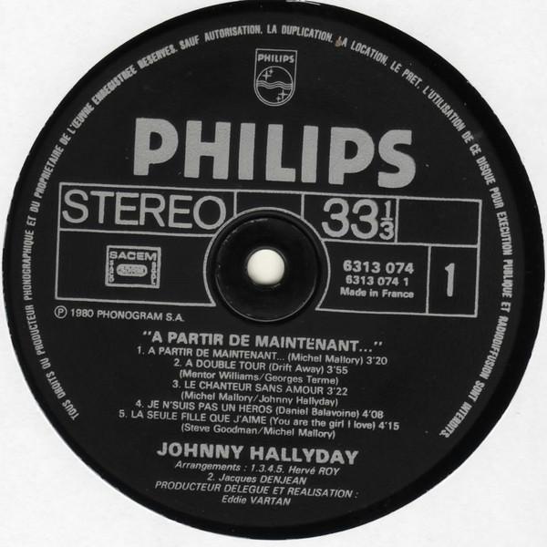 JOHNNY HALLYDAY A PARTIR DE MAINTENANT