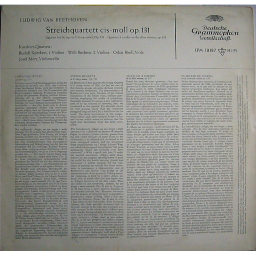 Beethoven string quartet #14 op 131 germany dgg lpm 18 187 ex by Koeckert  Quartet, LP with rarervnarodru