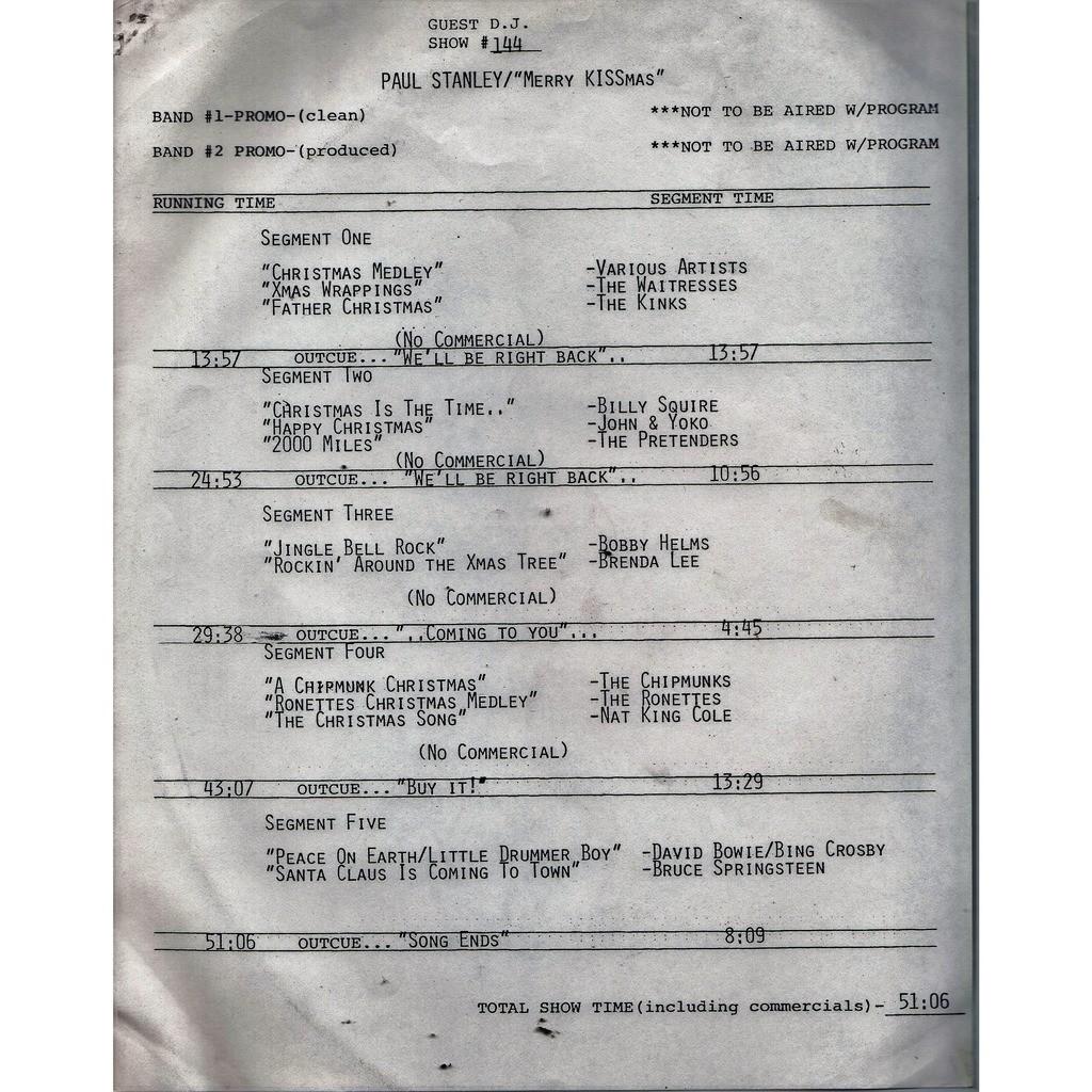 David Bowie Guest D.J. Show #144 (USA 1984 promo-only 'PFM' LP Radio Show+cues!!)