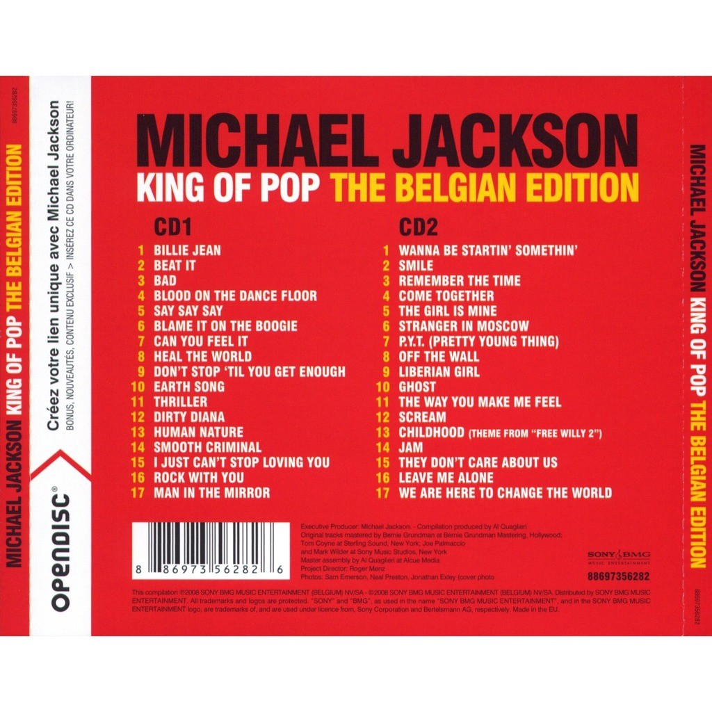 King Of Pop The Belgian Edition By Michael Jackson Cd X