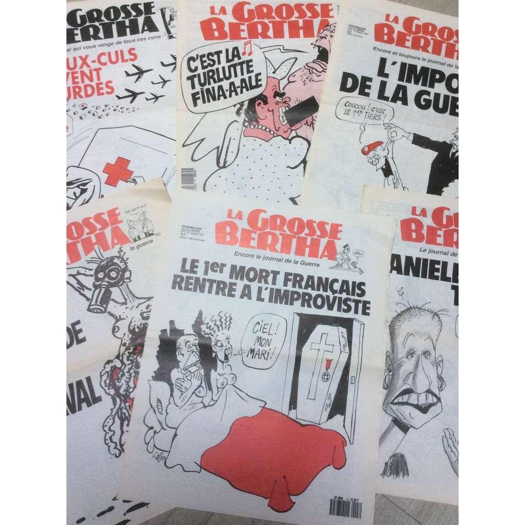 La Grosse Bertha Lot de 6 numéros de La Grosse Bertha : N° 3 à 6/13 & 22. 1991