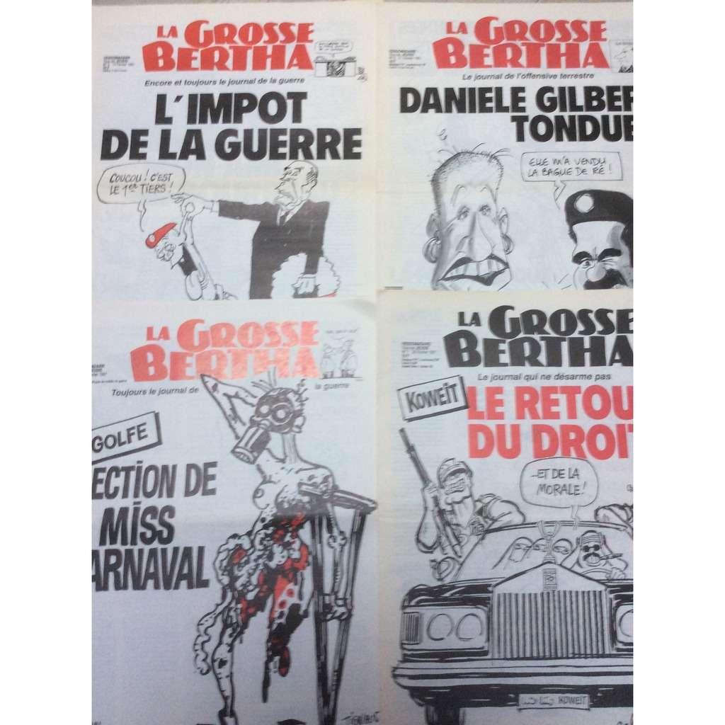 la grosse bertha Lot de 4 numéros de La Grosse Bertha : N°4/5/6 & 7. 1991