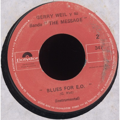 gerry weil el mensaje / blues for E.O.