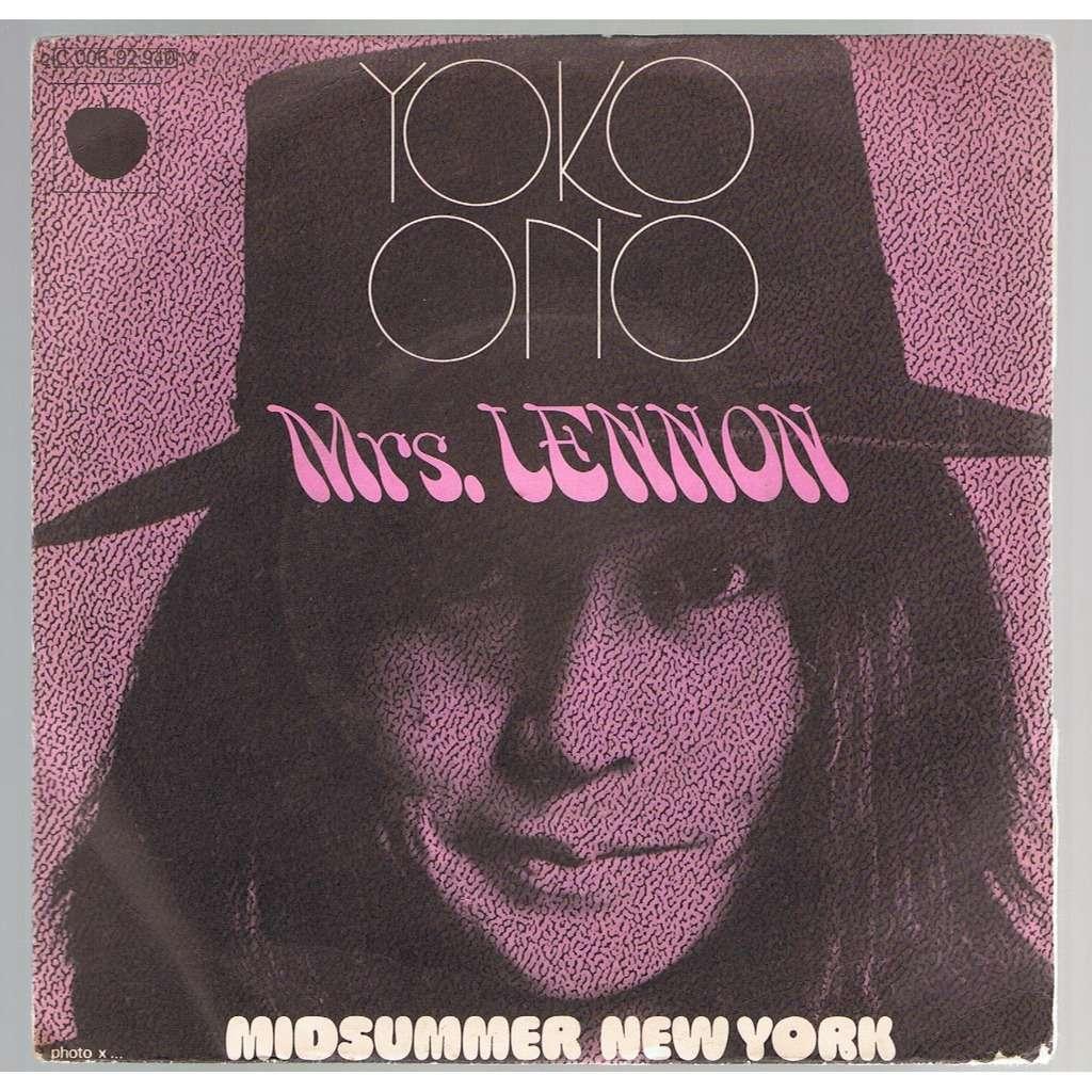YOKO ONO MRS LENNON / MIDSUMMER NEW-YORK