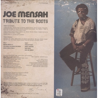 joe mensah tribute to the roots
