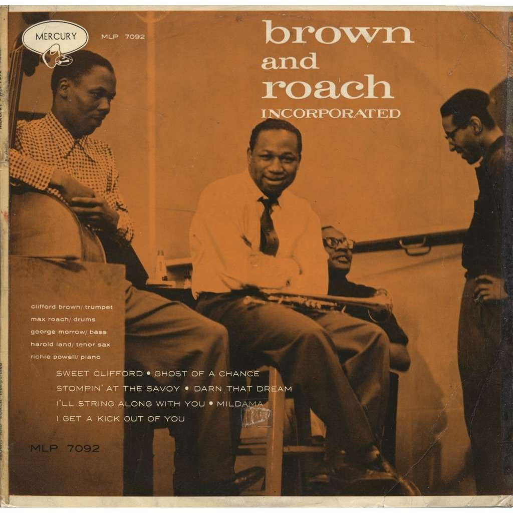 CLIFFORD BROWN - MAX ROACH Brown and Roach Incorporated / ORIGINAL Pressage France / different cover + CD-R