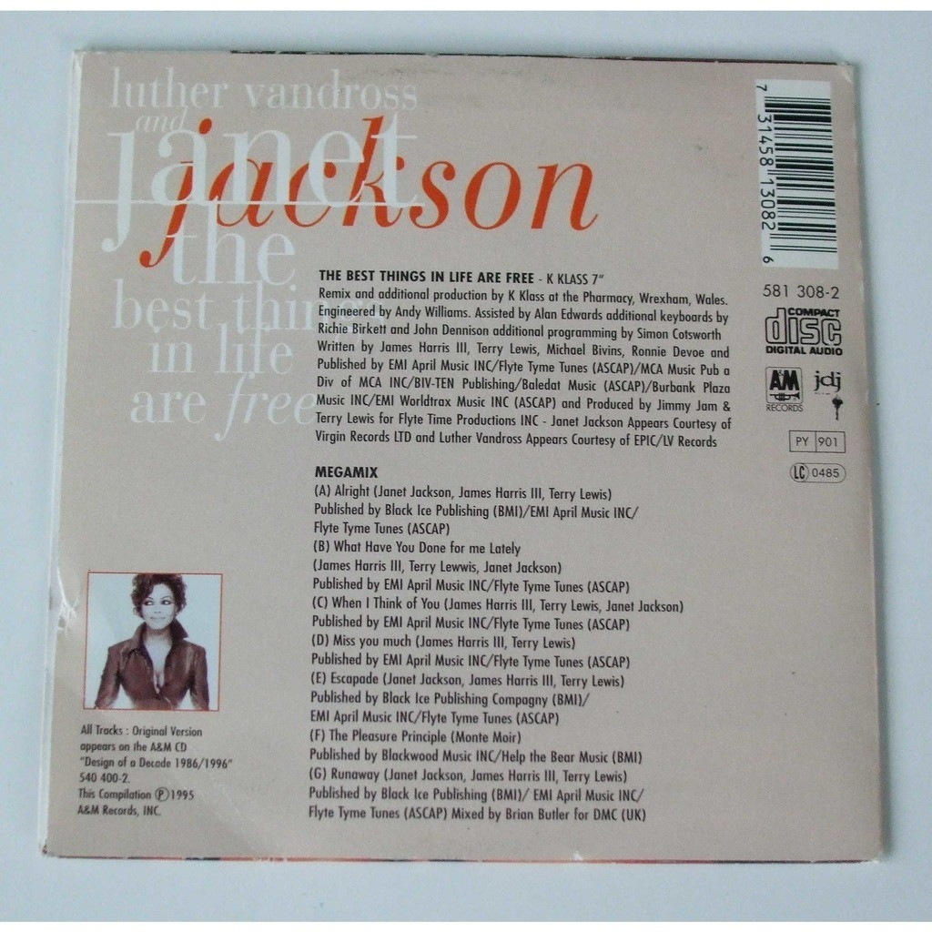 The best things in life are free - megamix by Janet Jackson - Luther  Vandross, CDS with dom88