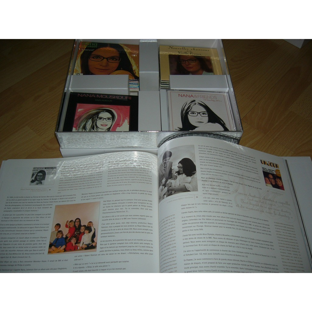 nana mouskouri Nana Mouskouri collection Coffret de 34 CD'S avec un livre autobiographique PRESSAGE FRANCE