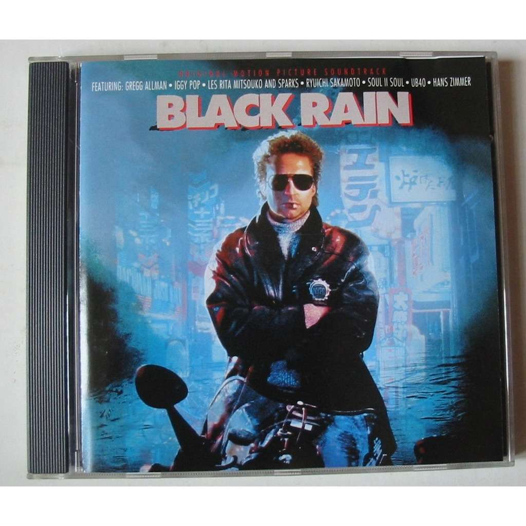 Black rain by Iggy Pop Hans Zimmer Ub40 Ryuichi Sakamoto, CD with ...