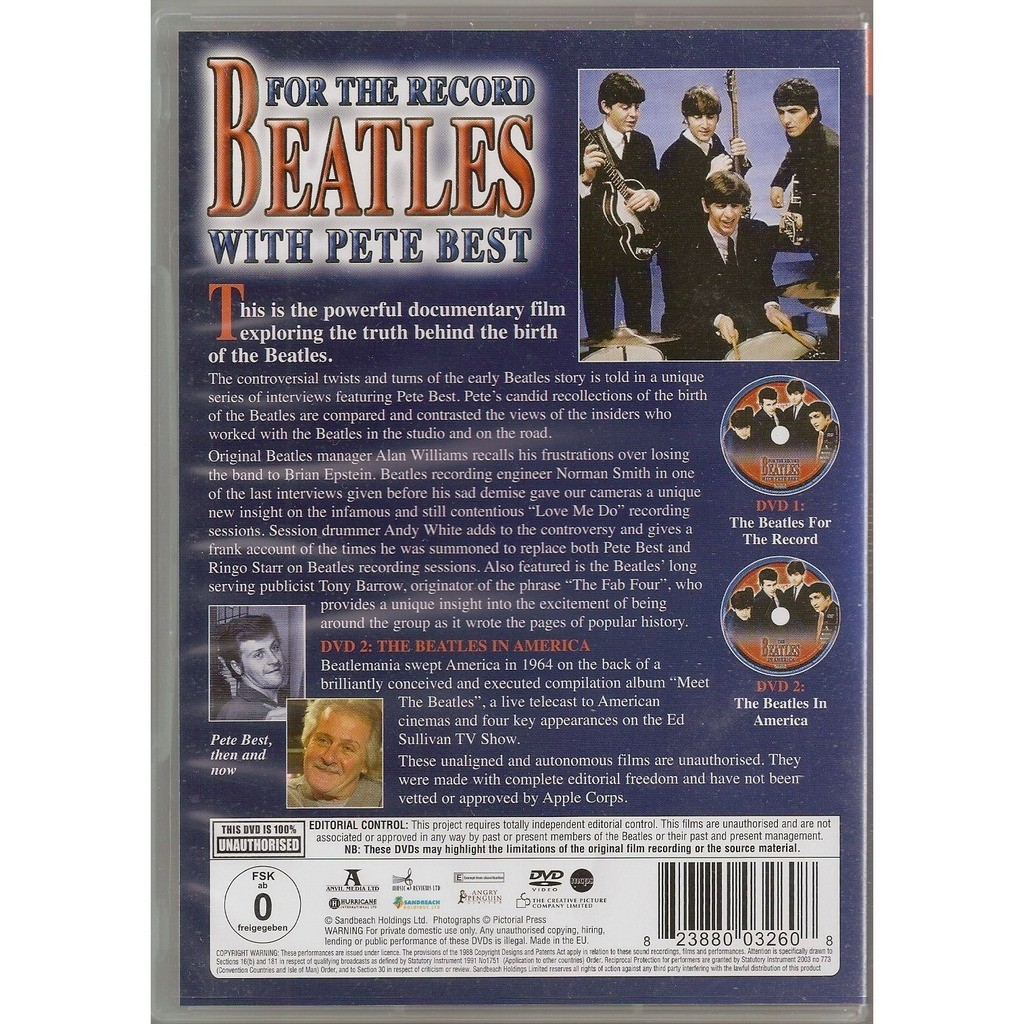 the beatles For the record with Pete Best