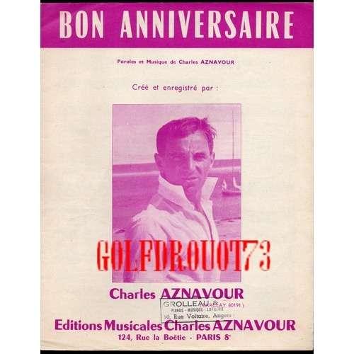 bon anniversaire aznavour