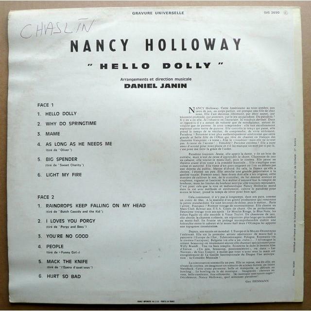 Nancy Holloway  Hello Dolly