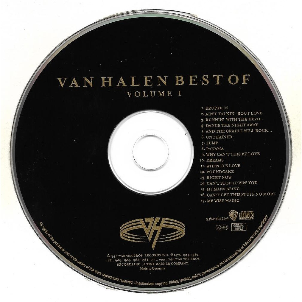 Best Of Volume 1 By Van Halen Cd With Kawa84 Ref 118715490