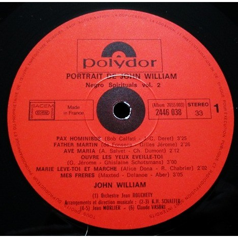 JOHN WILLIAM portrait de john william - negro spirituals