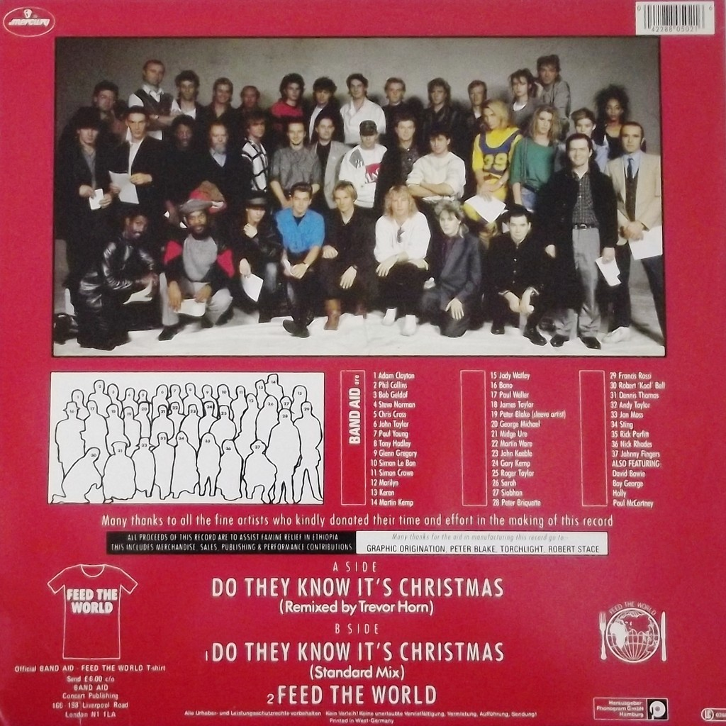 Do They Know It S Christmas By Band Aid 12inch With
