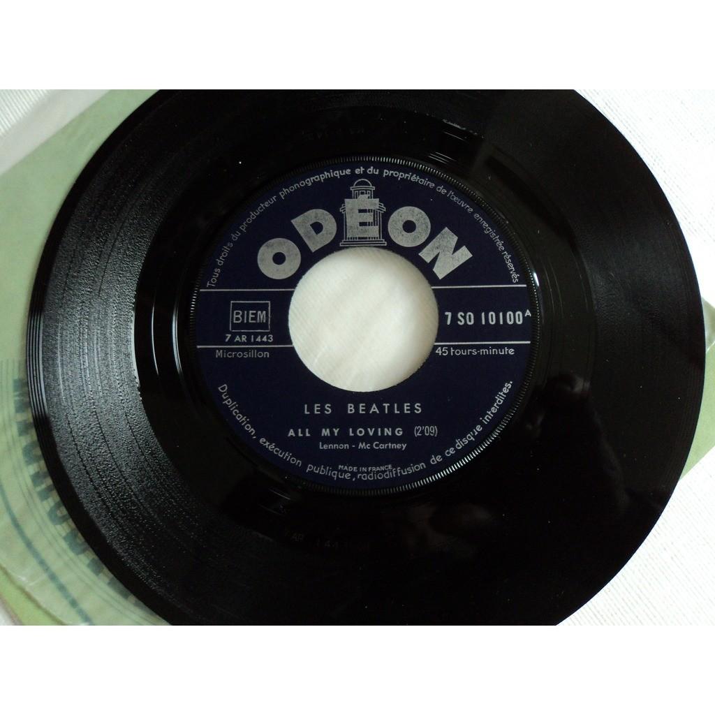 BEATLES ALL MY LOVING /IT WON T BE LONG (juke box label bleu)