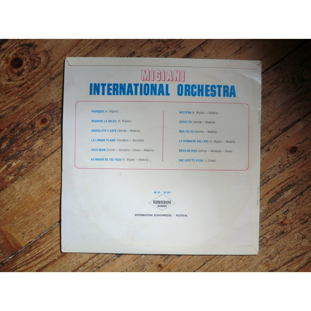 Armand MIGIANI International Orchestra (very rare original French press - mid 1960 - Fleepback cover)