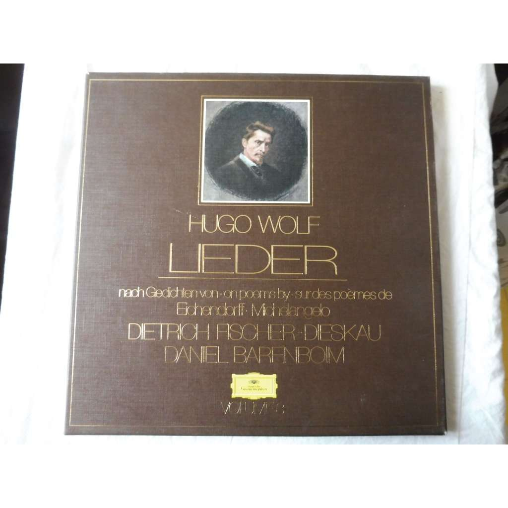 Dietrich Fischer-Dieskau - Daniel Barenboim Wolf : Lieder vol. 3 on poems by eichendorff, michelangelo - ( 3 lp set box stéréo mint condition )