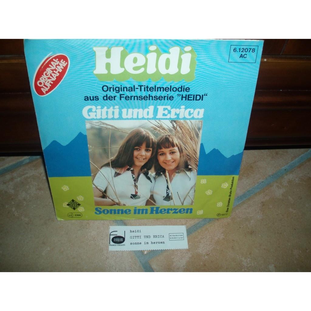 GITTI UND ERICA HEIDI / SOMME IM HERZEN (avec etiquette juke box)