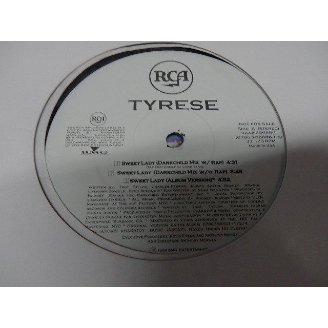 Tyrese Sweet lady (3 versions + 2 instrus + a cap)