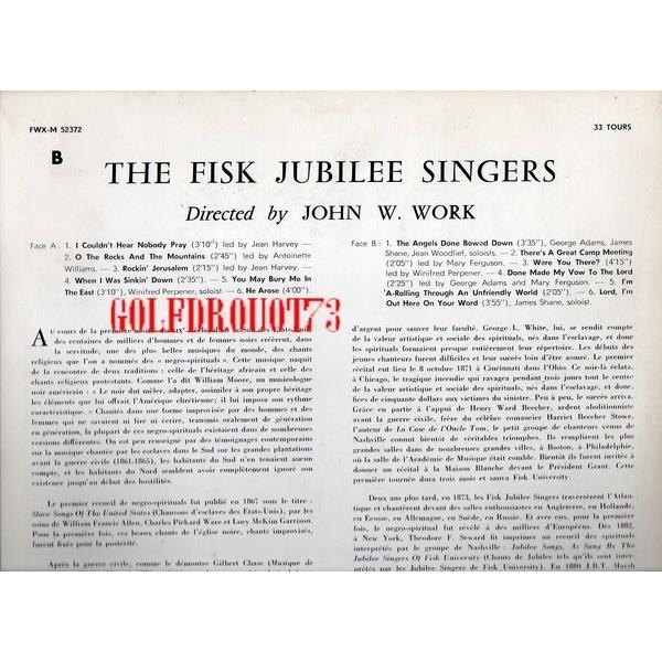 FISK JUBILEE SINGERS (THE) THE FISK JUBILEE SINGERS