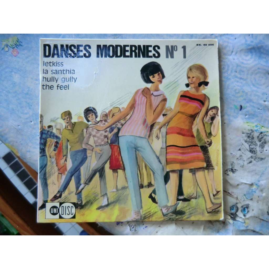Jean-Paul MENGEON ORCHESTRA Danses Modernes N°1 (French press - 1970s - Fleepback cover - Library Music - Complet with Insert)
