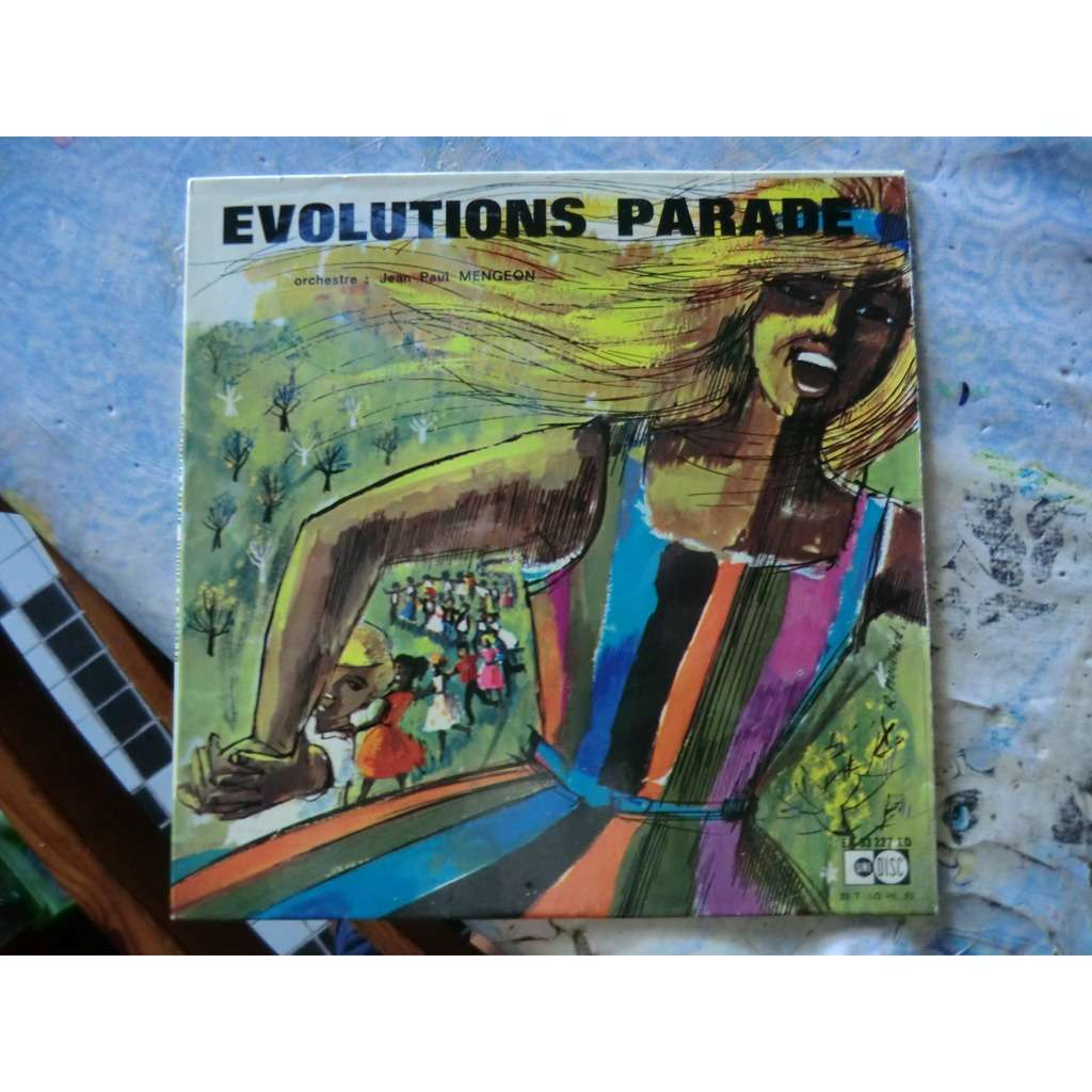 Jean-Paul MENGEON ORCHESTRA Evolutions Parade (rare French press - early 1970s - Fleepback cover - Library Music)