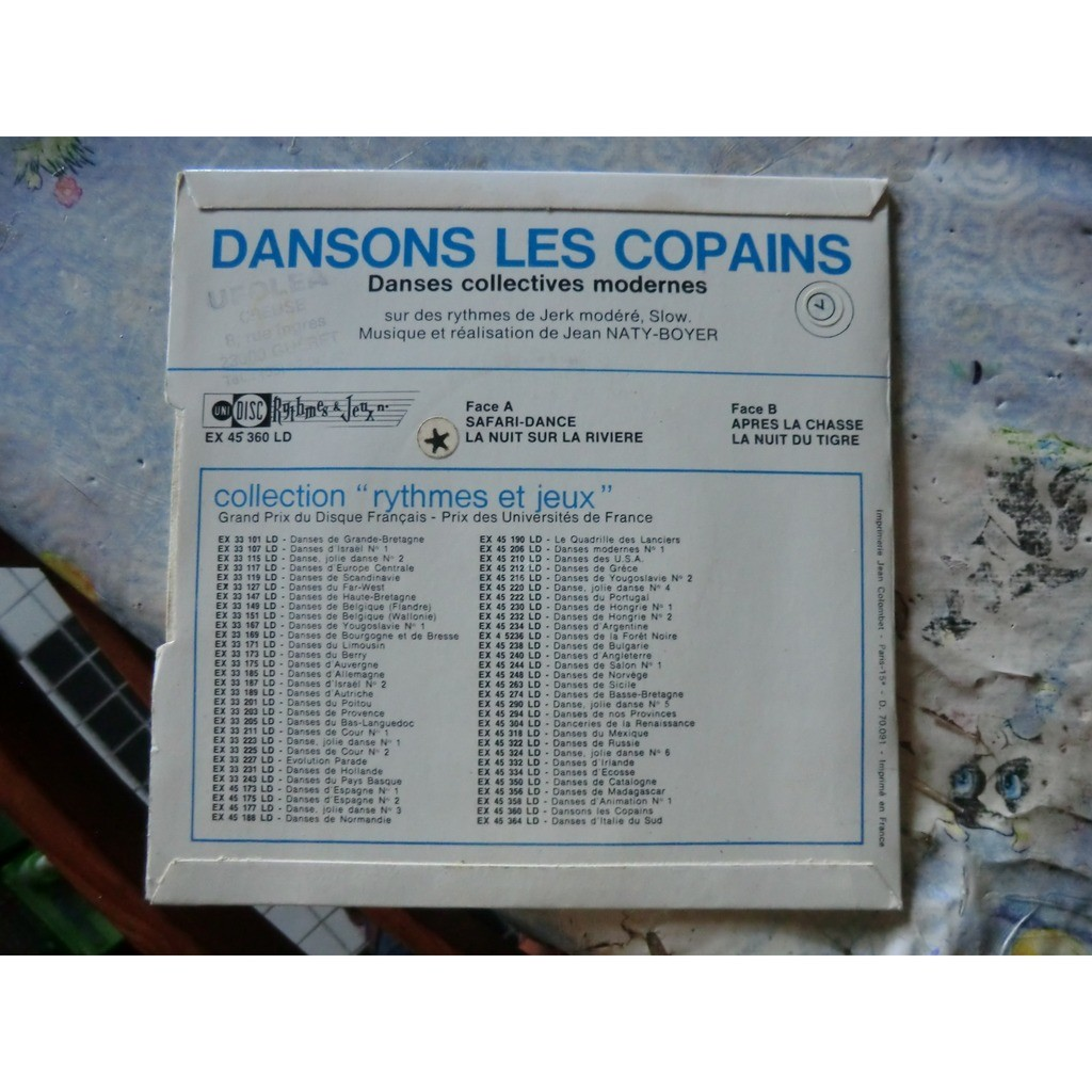 Jean NATY-BOYER Dansons les Copains (original French press - late 1960s - Complet with inserts - BIEM)