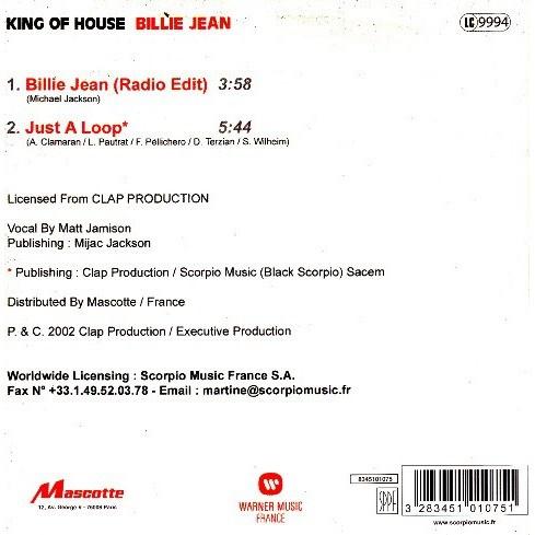King of house Billie Jean /Just A Loop