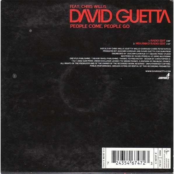David Guetta Feat. Chris Willis People Come People Go