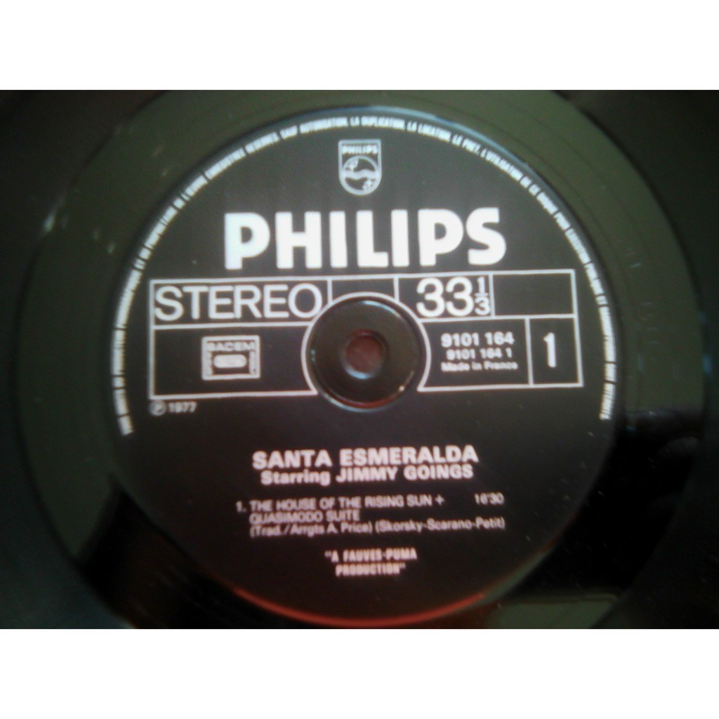 Santa Esmeralda Starring Jimmy Goings ‎– The House Santa Esmeralda Starring Jimmy Goings ‎– The House Of The Rising Sun