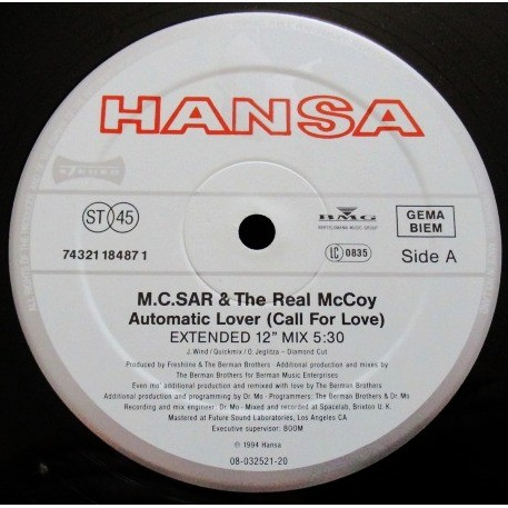 M.C. SAR & THE REAL Mc. COY automatic lover (call for love) - 3mix