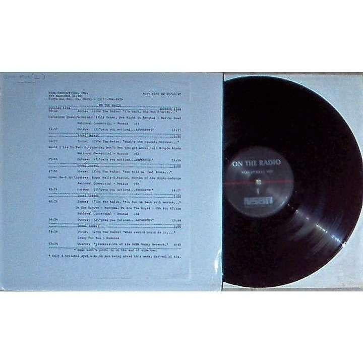 Police / Sting On The radio Week Of 07/26/85 (usa 1985 promo 'nsba' lp brown wax radio show + cues!!)