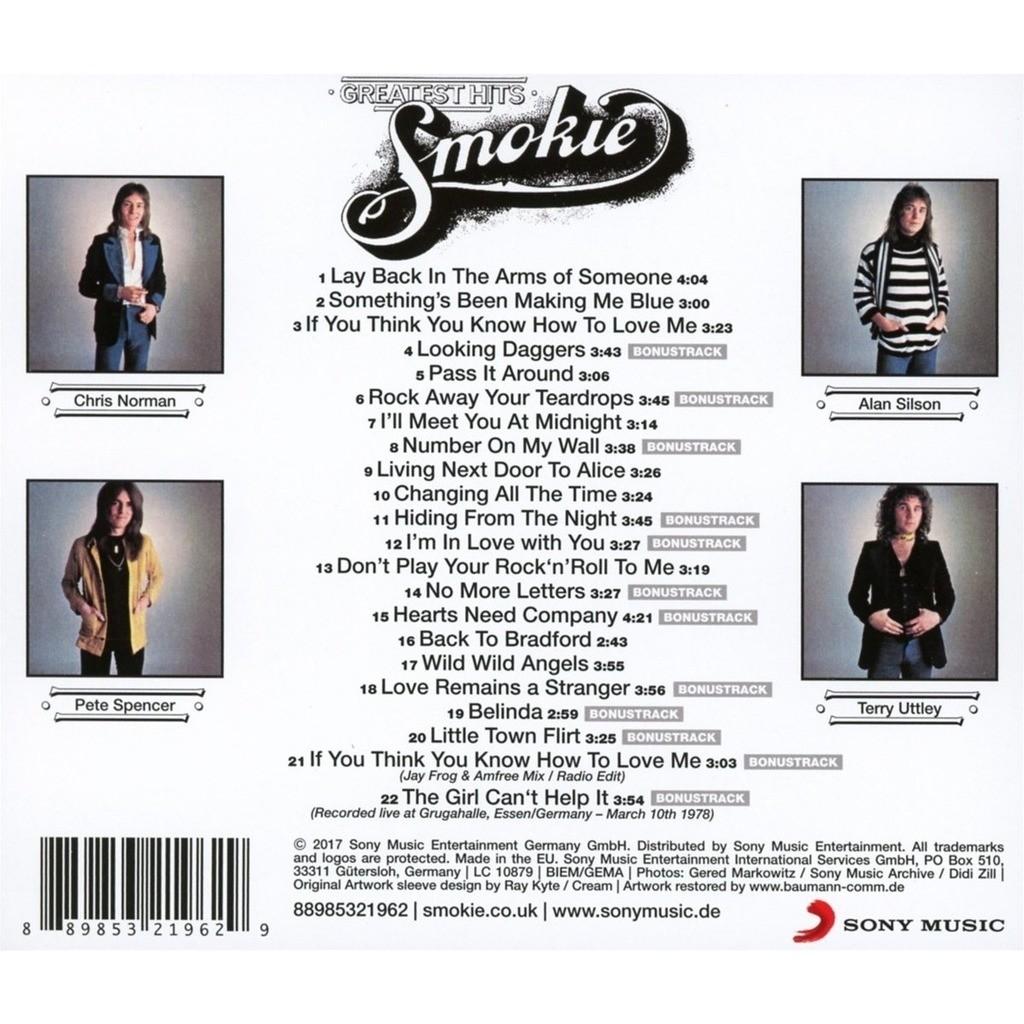 Greatest Hits 22 Tracks 12 Bonuses By Smokie Cd