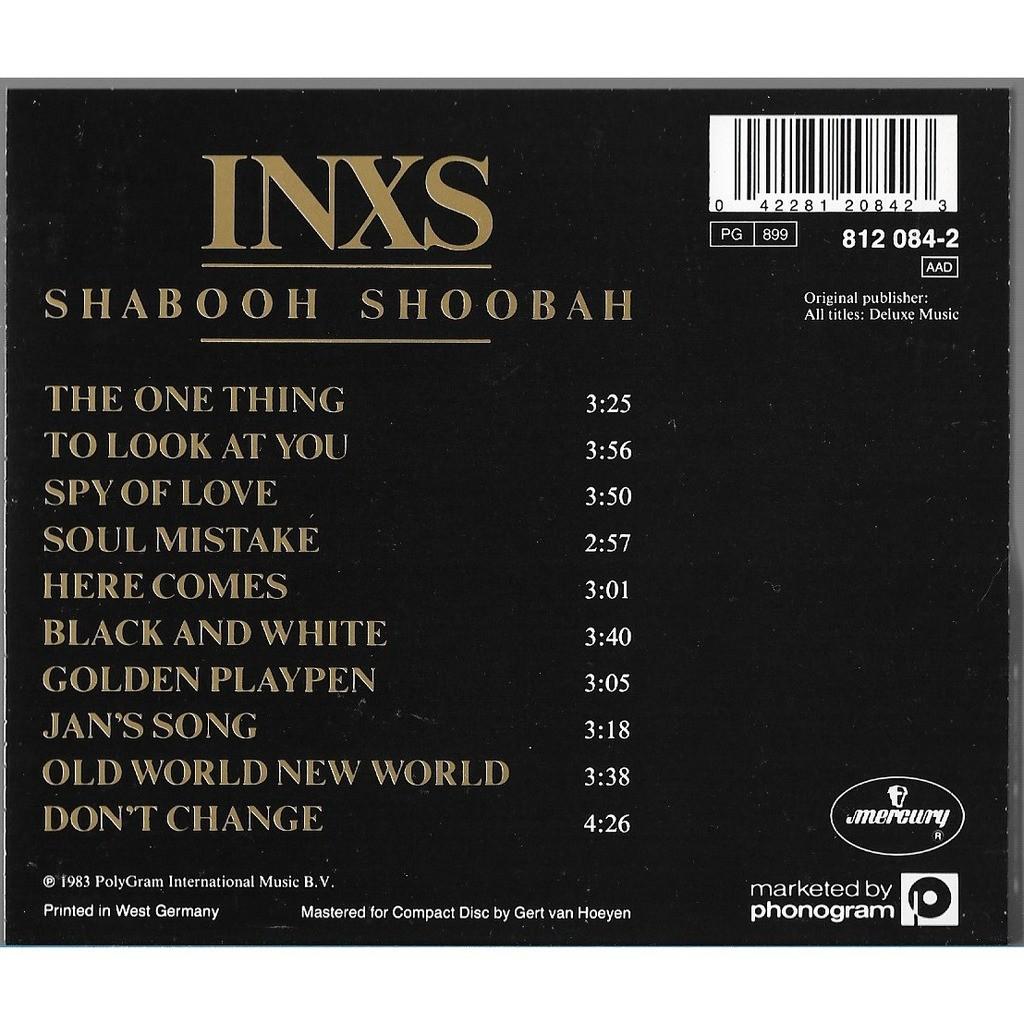inxs Shabooh Shoobah