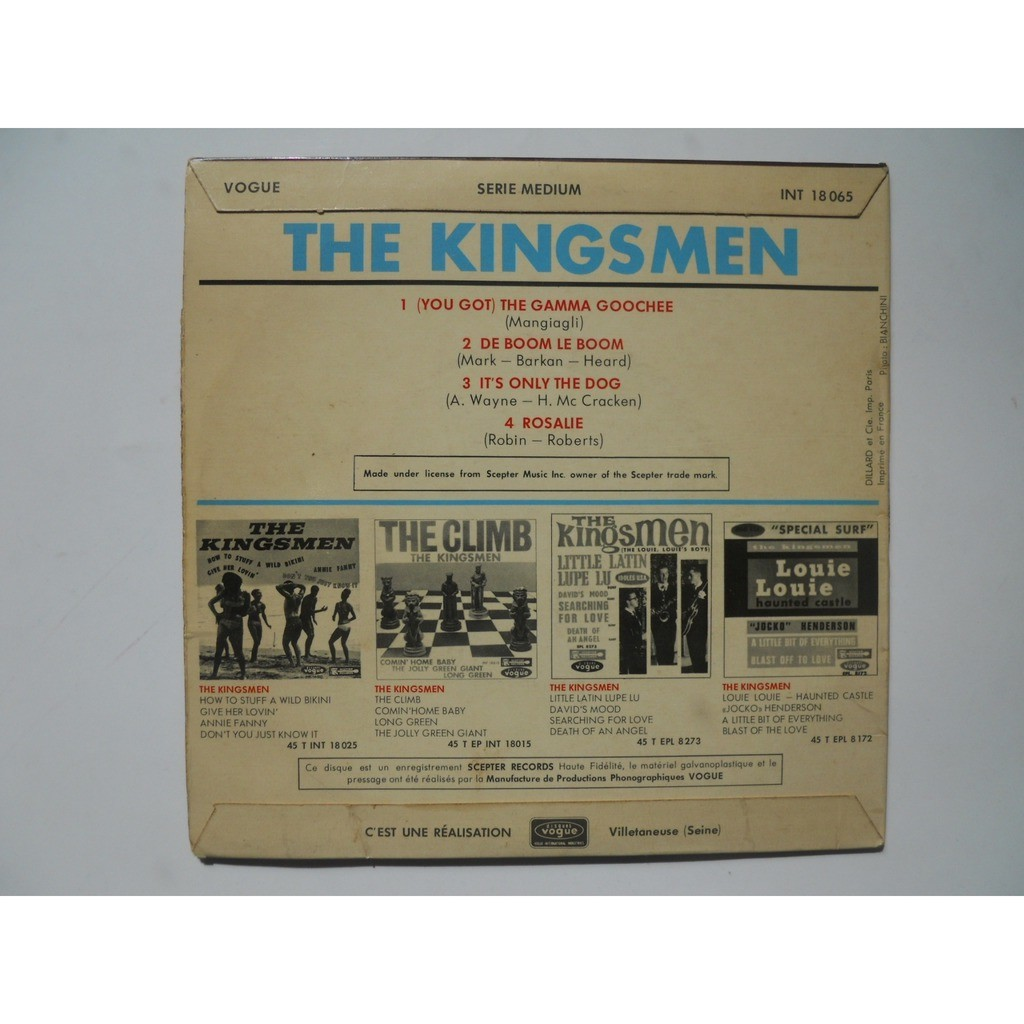 The Kingsmen The Gamma Goochee