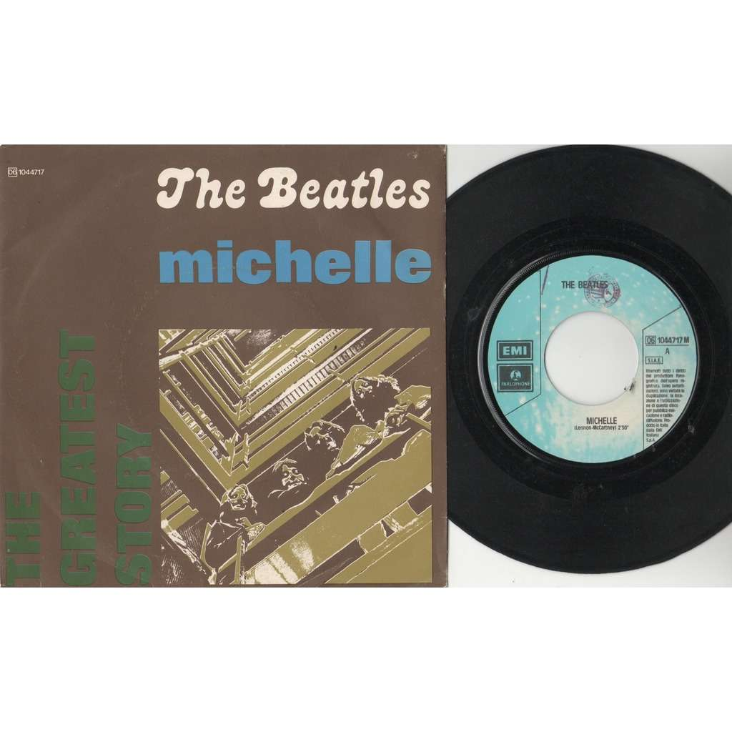 The Beatles Michelle (Italian 70s 'Grestest Story' issue 2-trk 7single unique ps)