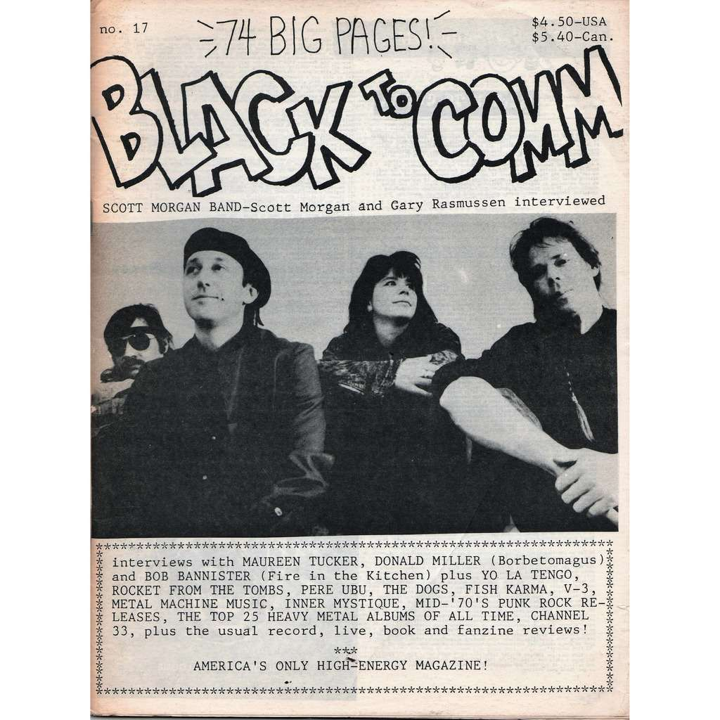 Scott Morgan Band / Sonic's Rendevous Band Black To Comm (N.17) (USA early 80s Scott Morgan Band front cover magazine!!)