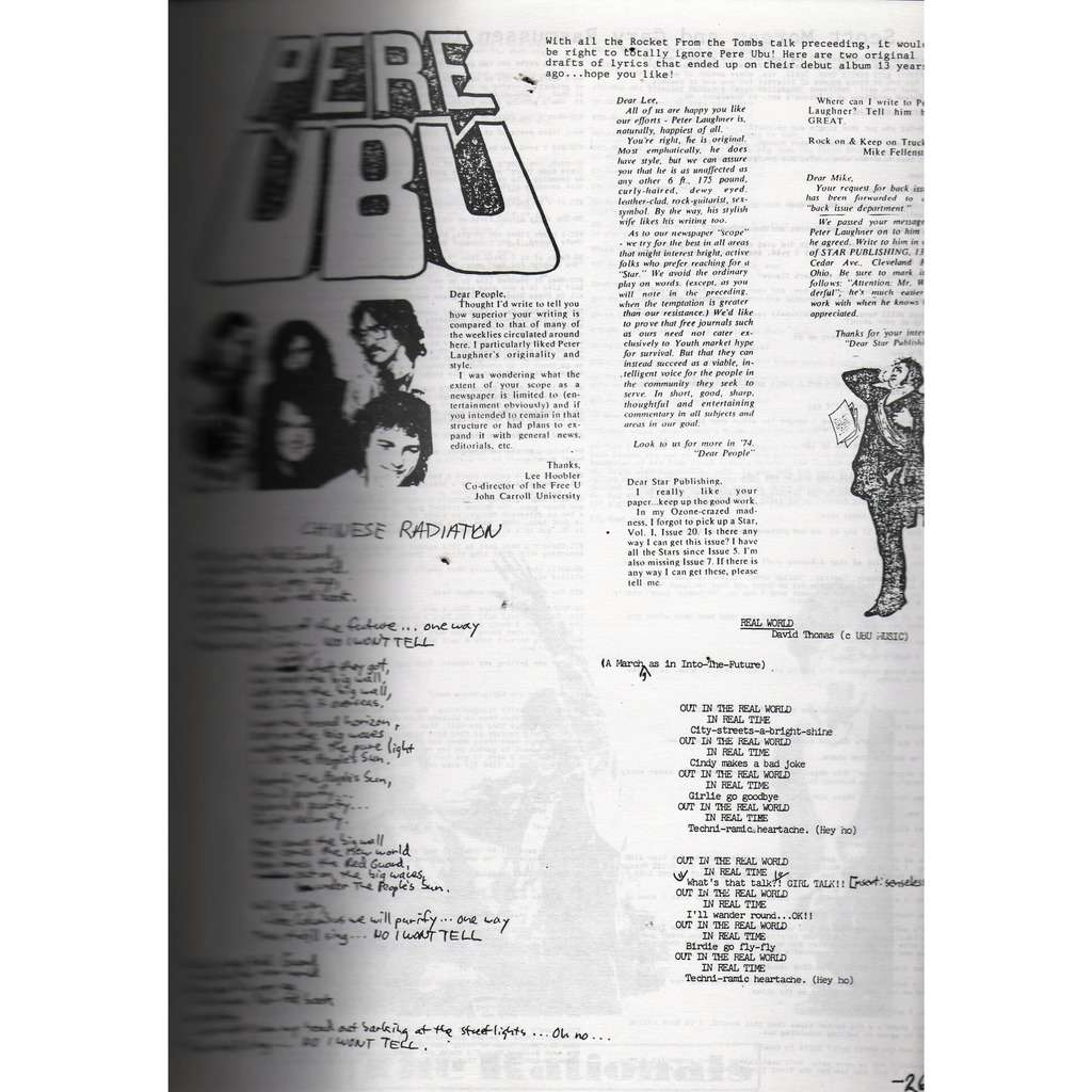 pere ubu Black To Comm (N.17) (USA early 80s music magazine!!)
