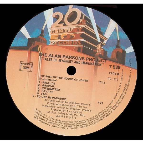 ALAN PARSONS PROJECT tales of mistery