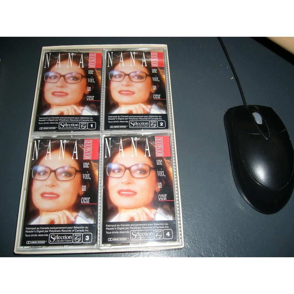 Nana Mouskouri Nana mourkouri une voix , un coeur (pressage canadien) boitier de 4 mini casettes