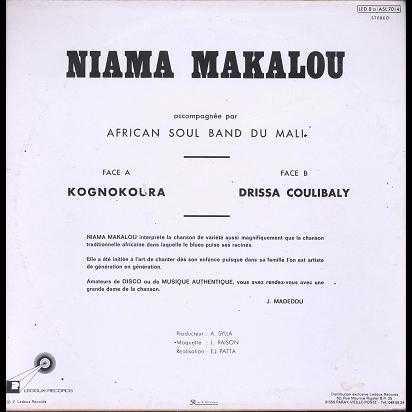 niama makalou et african soul band du mali kognokoura / drissa coulibaly