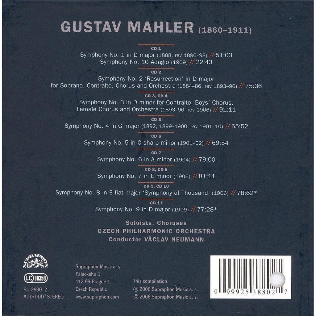 Symphonies / neumann, czech philharmonic orchestra, et al by Mahler ...