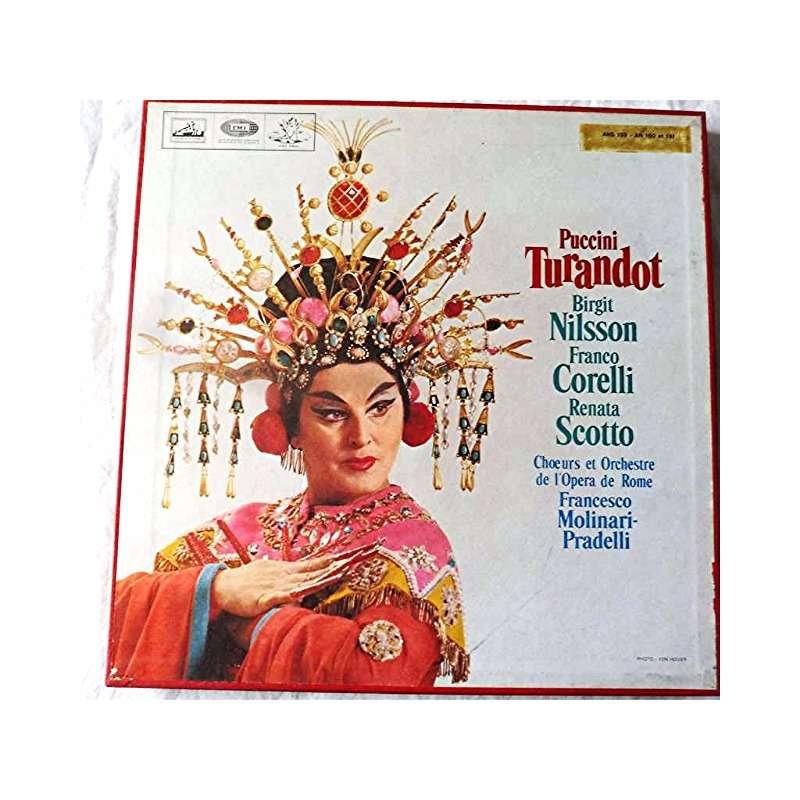 Birgit Nilsson, Franco Corelli, Renata Scotto Puccini : Turandot - francesco molinari-pradelli - ( 3 lp set box white angel stéréo )